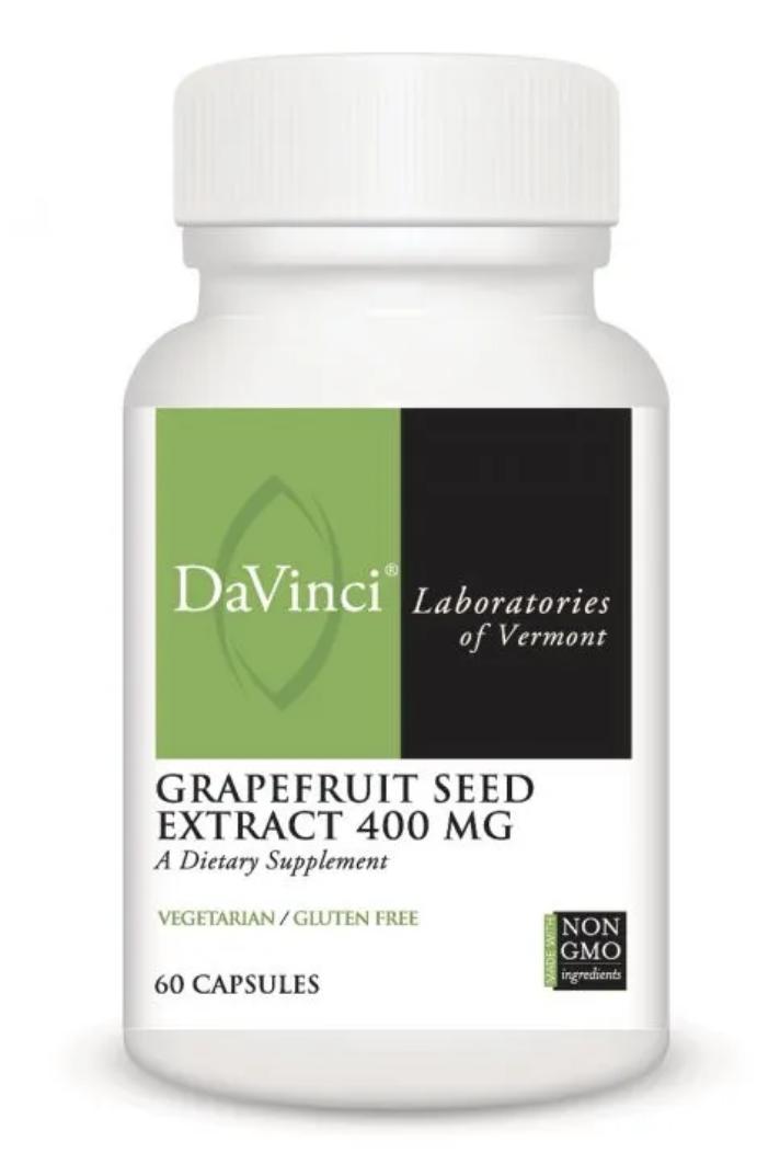 GRAPEFRUIT SEED EXTRACT 400 MG 60 Vegetarian Capsules DaVinci Laboratories