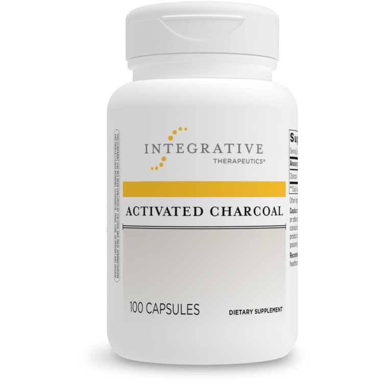 Activated Charcoal 560 mg 100 capsules  Integrative Therapeutics