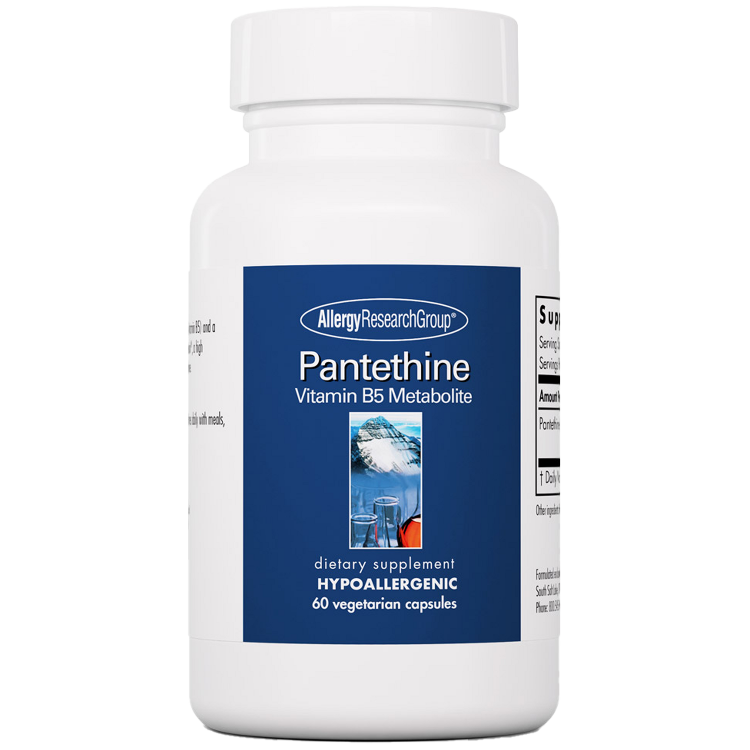 Pantethine  60 Vegetarian Capsules Allergy Research Group