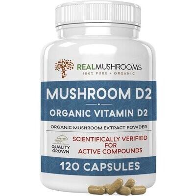 Mushroom D2 300 mg  120 capsules Real Mushrooms