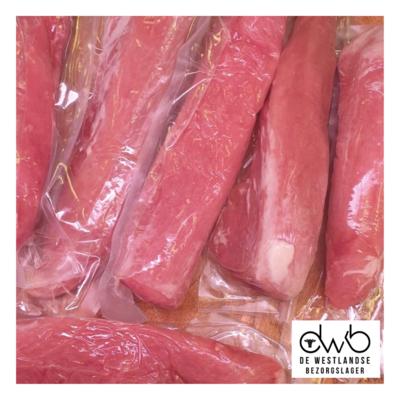Bevroren lange varkenshaas (€11,99kg)