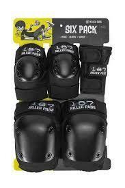 187 Six Pads Jr. (Black)
