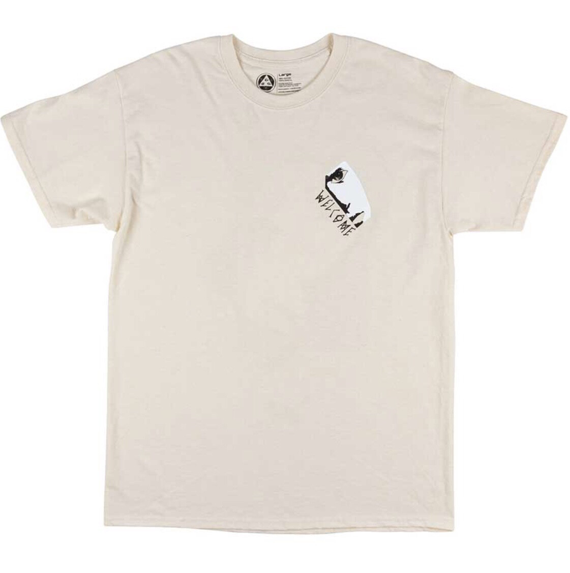 Welcome Skateboards Faces Tee - Bone (Large)