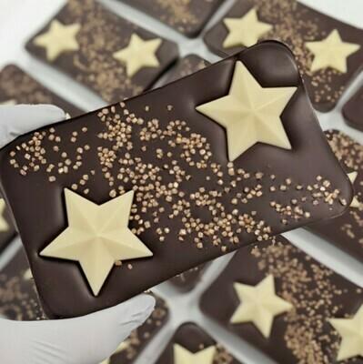 The Dark Chocolate Christmas Star Bar (Suitable for Vegan)