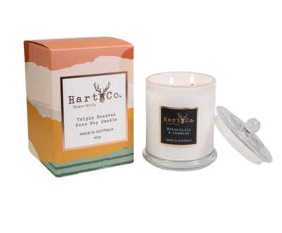 Waterlilly & Jasmine Double Wick 400g Candle