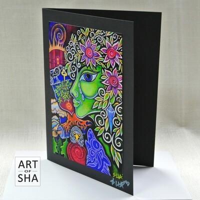 """""""Green Goddess"""" - Art Card"""
