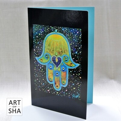 """Hamsa Blessing"" - Art Card"