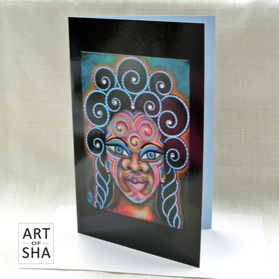 """Tribal Beauty"" - Art Card"