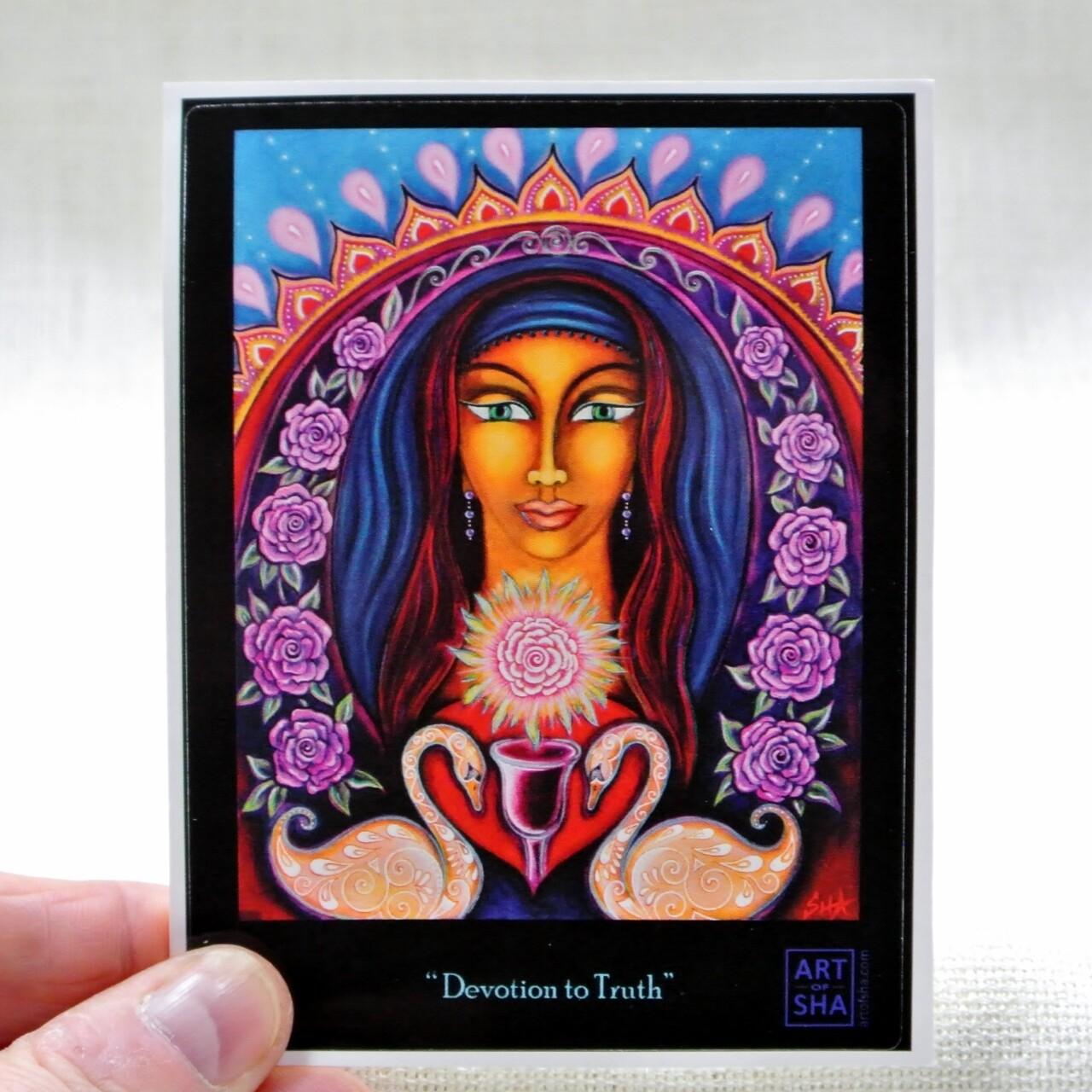 """""""Devotion To Truth"""" Sticker"""