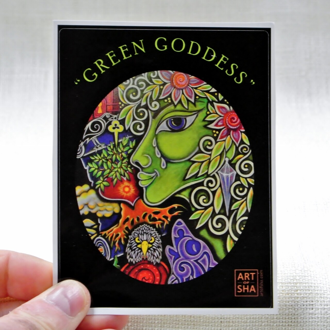 """Green Goddess"" Sticker"