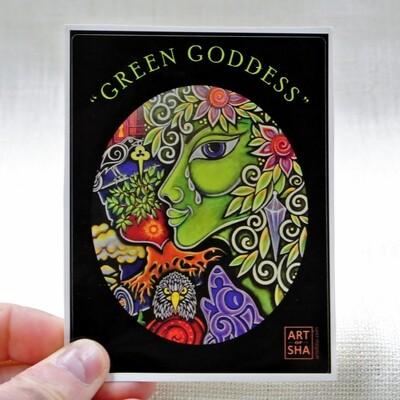 """""""Green Goddess"""" Sticker"""