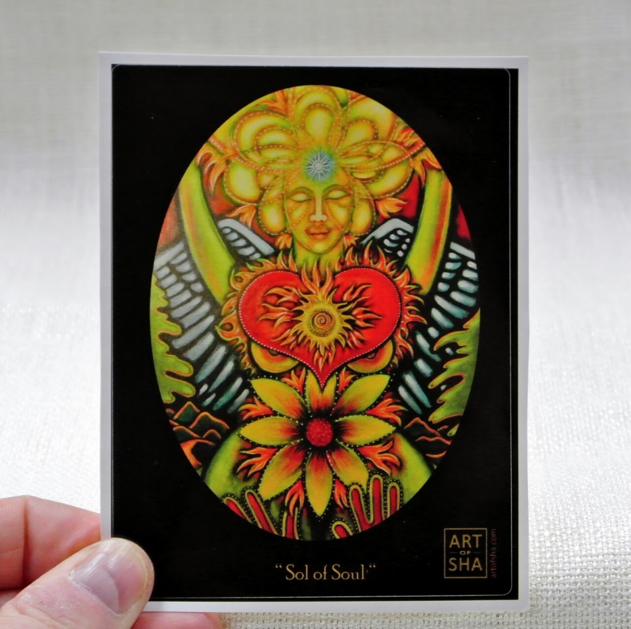 """Radiant Heart - Sol of Her Soul"" Sticker"
