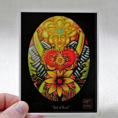 """Radiant Heart - Sol of Her Soul"" Sticker"