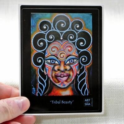 """""""Tribal Beauty"""" Sticker"""