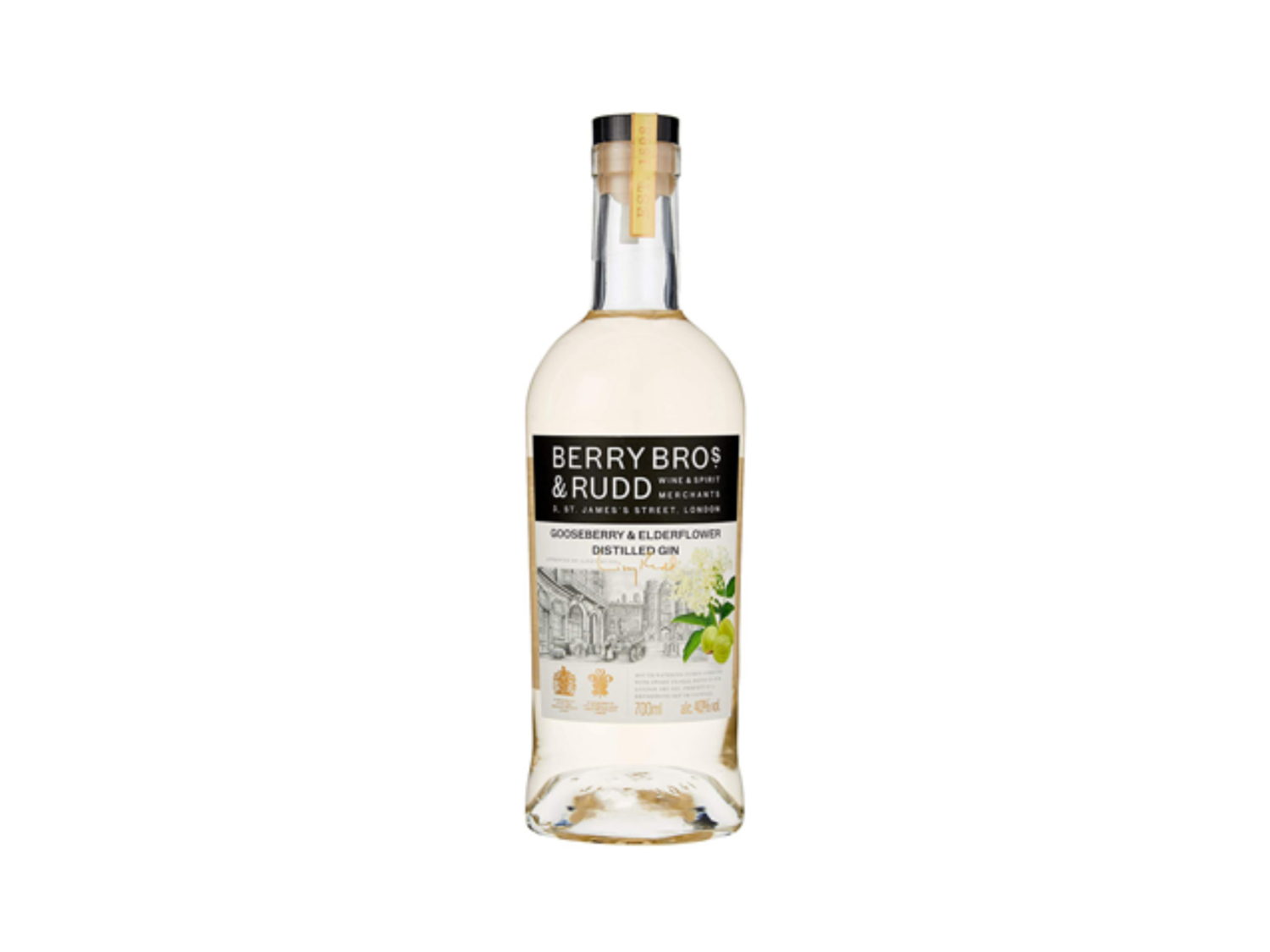 Berry Bros. & Rudd Elderflower & Gooseberry Distilled Gin (700mL)
