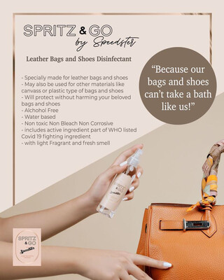 Speedster Spritz & Go Leather Bag and Shoes Disinfectant (100mL)