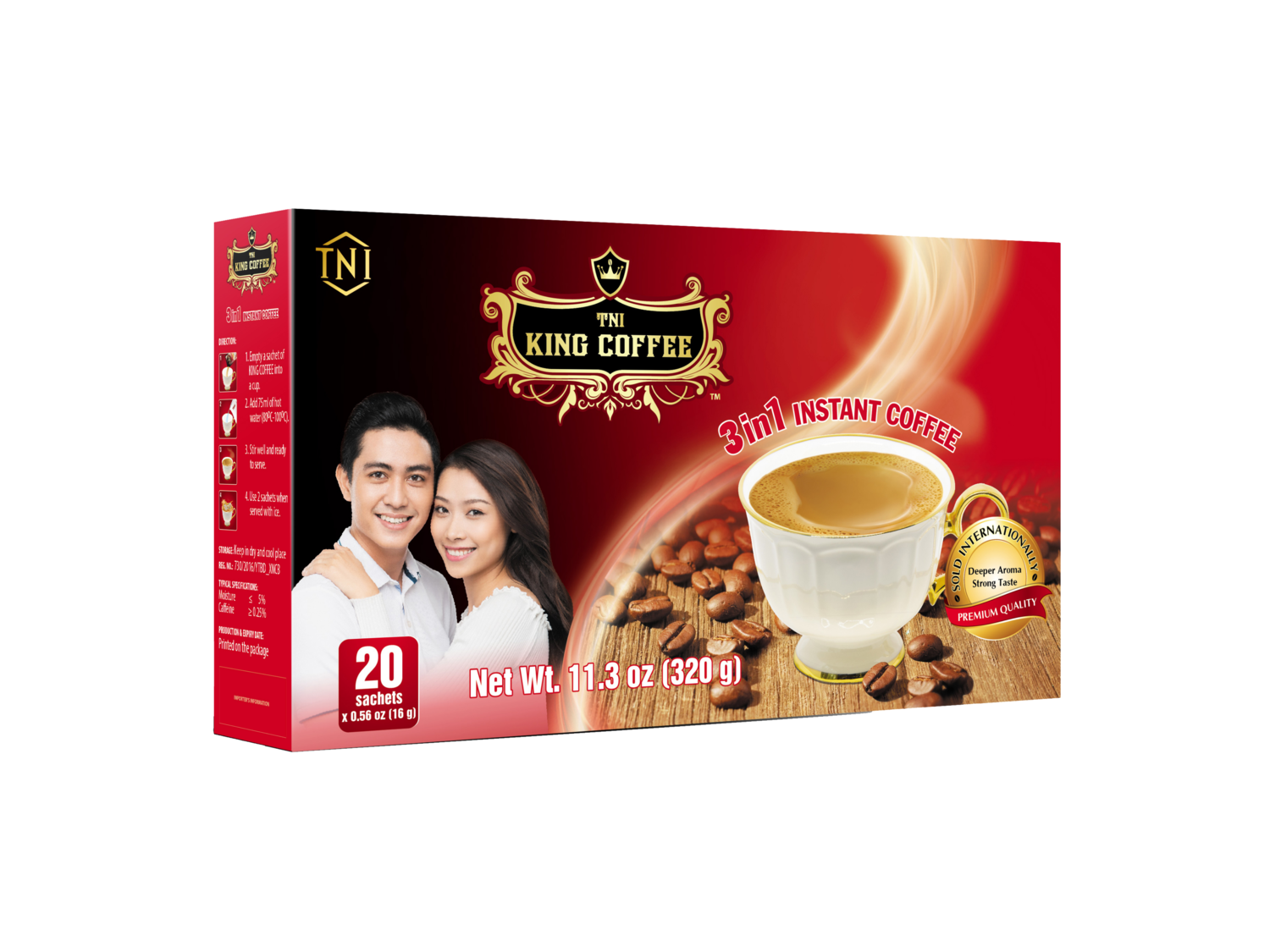 TNI King Coffee 3-in-1 Instant Coffee by 20