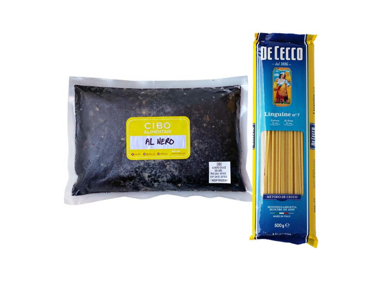 CIBO Linguine Al Nero Pasta Set (1kg)