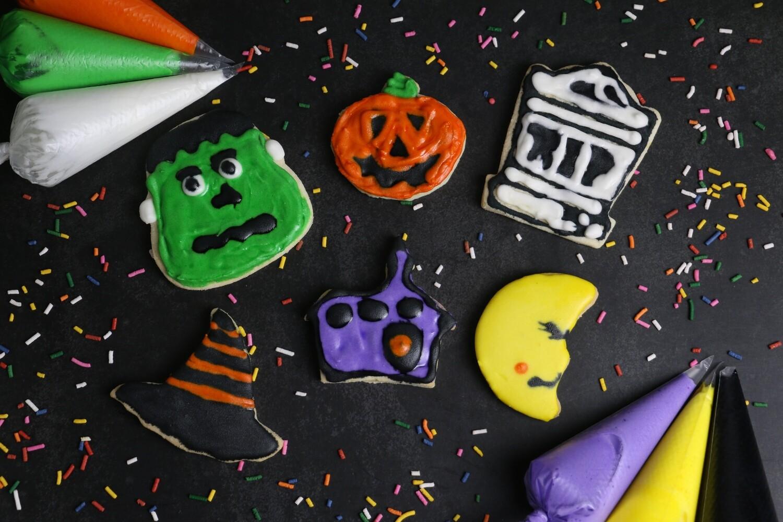 Mesclun Halloween Cookie Decorating Kit