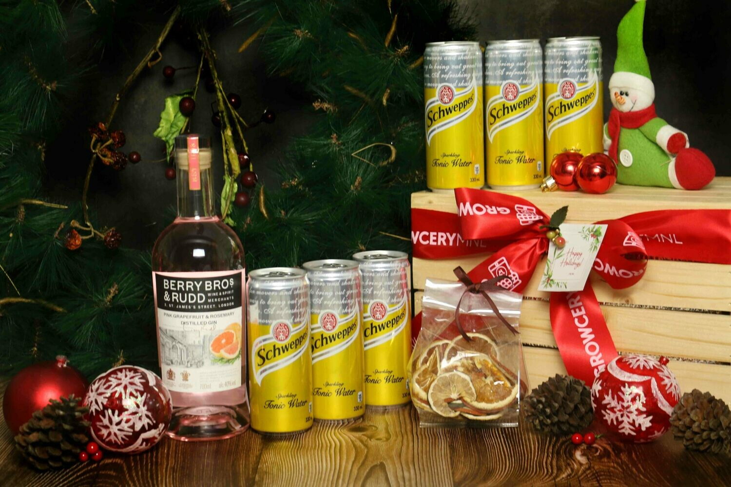 Berry Bros & Rudd Pink Grapefruit & Rosemary Gin Set