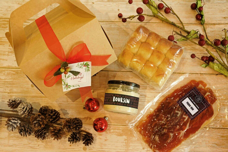 Parma Ham, Bread & Spread Set
