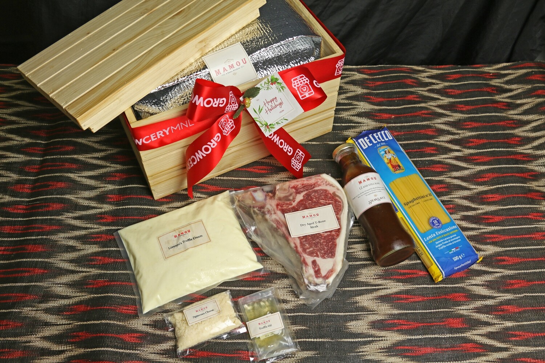 Mamou Dry Aged T-Bone Steak & Lorenzo's Truffle Cream Pasta Set