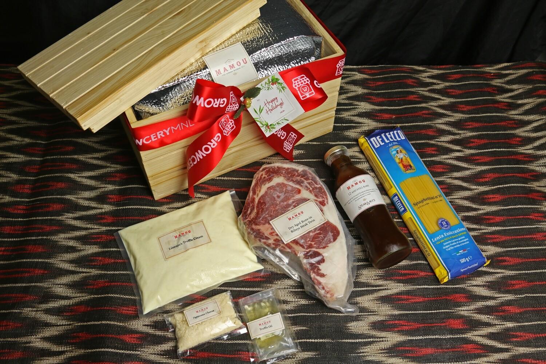 Mamou Dry Aged Bone-In Ribeye Steak & Lorenzo's Truffle Cream Pasta Set