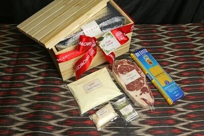 Mamou Single Angus Ribeye Steak & Lorenzo's Truffle Cream Pasta Set