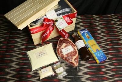 Mamou Twin Angus Ribeye Steak & Lorenzo's Truffle Cream Pasta Set