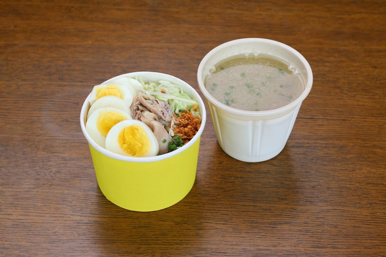 Chicken Mami + Mini Siopao