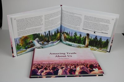 Amazing Truth About Us (hardback) A4 Landscape hardback book