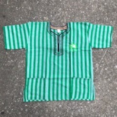 CYAM Dark Green Stripe Dashiki w/ Green CYAM Emblem