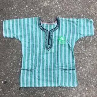 CYAM Light Green Stripe Dashiki w/ Green CYAM Emblem