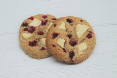 Gluten Free Raspberry & White Chocolate Cookie