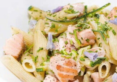 Pasta zalm / 1 persoon