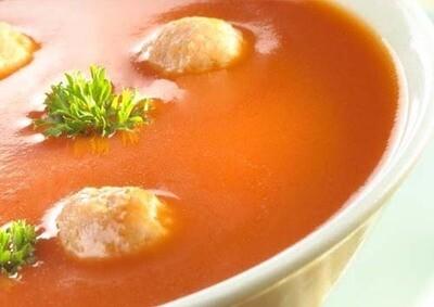 Soep tomaten met ballekes  / 1 liter
