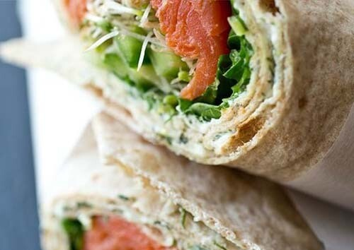 Wrap gerookte zalm / 1 persoon