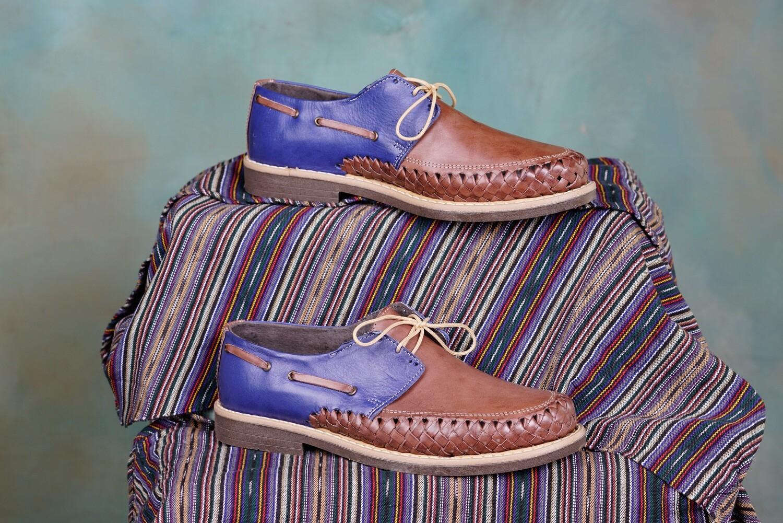 005-01 Mens Dress Shoe Blue/Brown