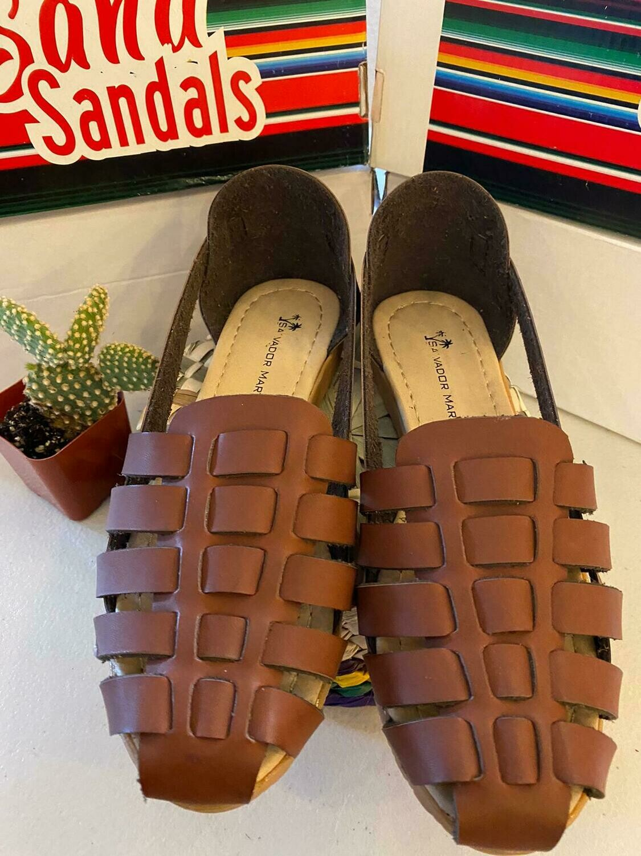 068-04 SANDALS CLOSE BROWN