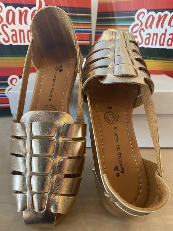 069-09 SANDALS ROSE/GOLD