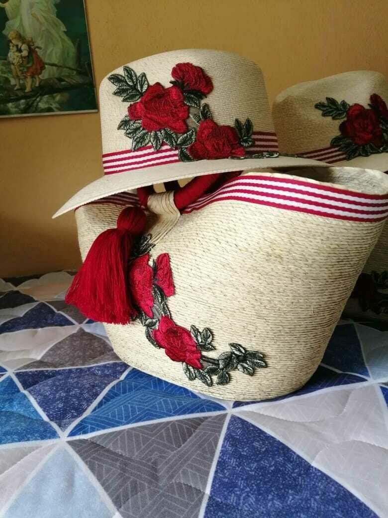 Hat & bag floral set