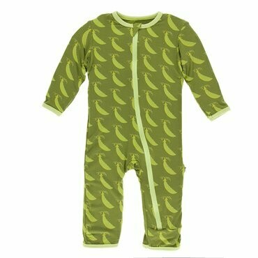 Kickee Pants Grasshopper Sweet Peas Coverall
