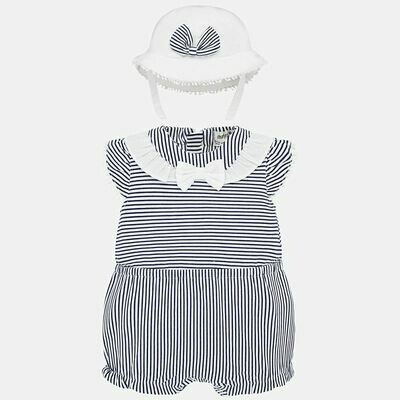 Mayoral Sunsuit/Hat 1671