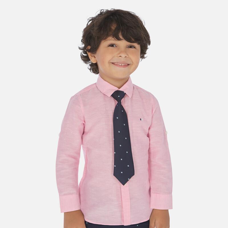 Mayoral Linen Pink Shirt 141
