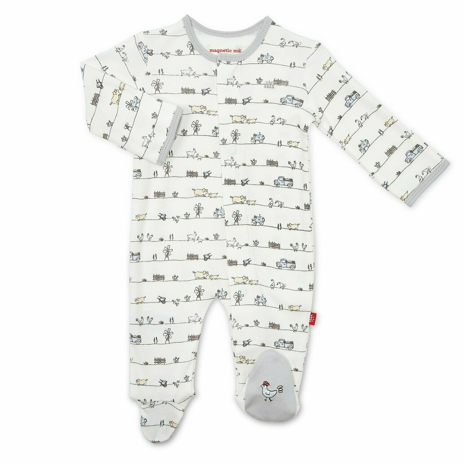Magnetic Me Dig In Organic Cotton Footie 17425
