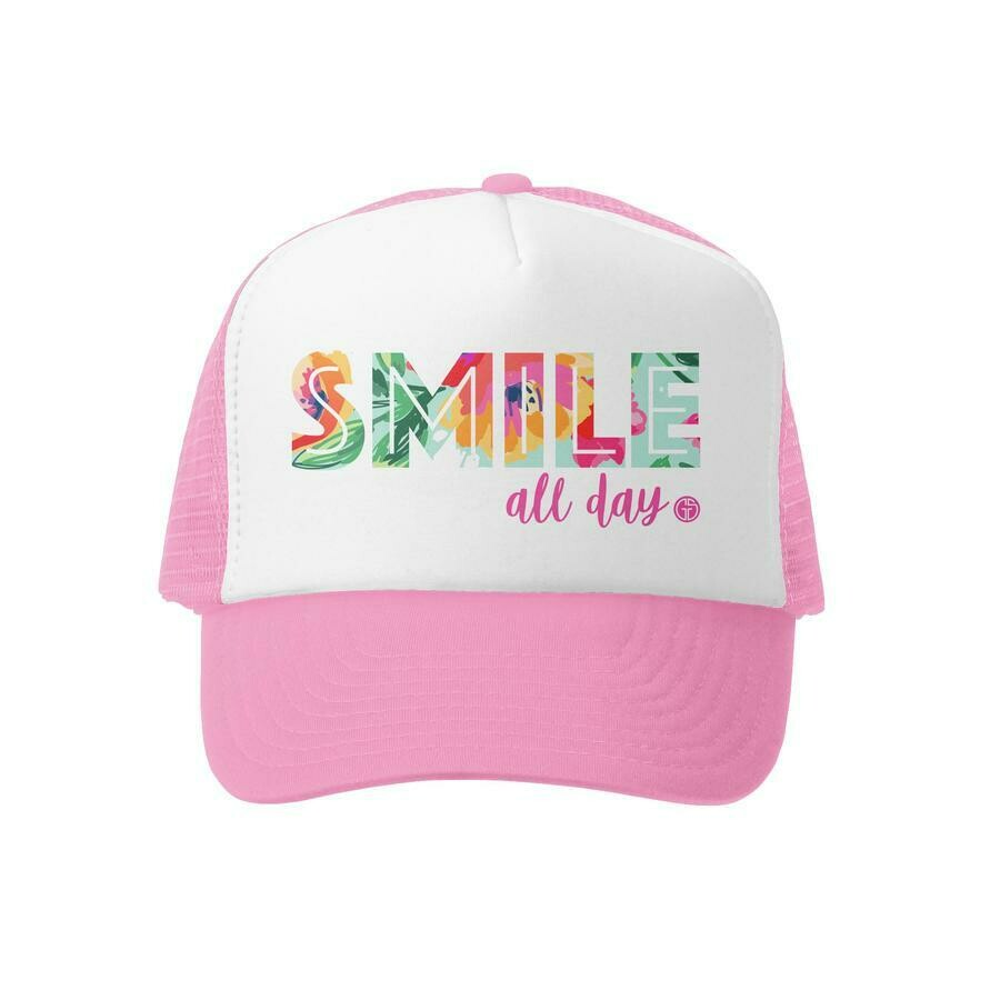Grom Squad Hat Smile All Day-Pink