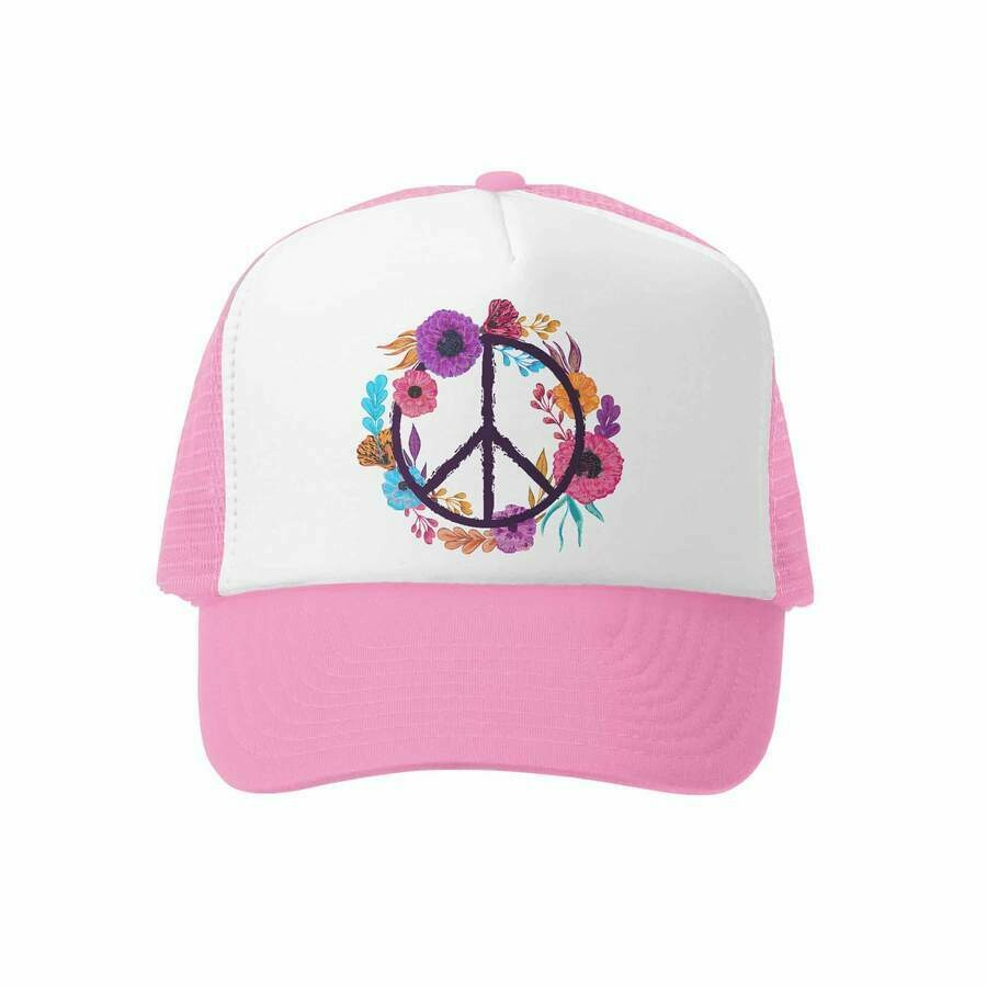 Grom Squad Hat Peace-Pink