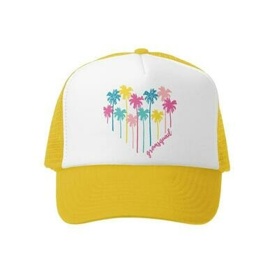 Grom Squad Hat Palm Heart-Yellow