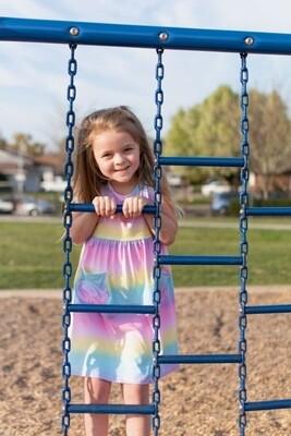 Flap Happy Rainbow Dress DAHB
