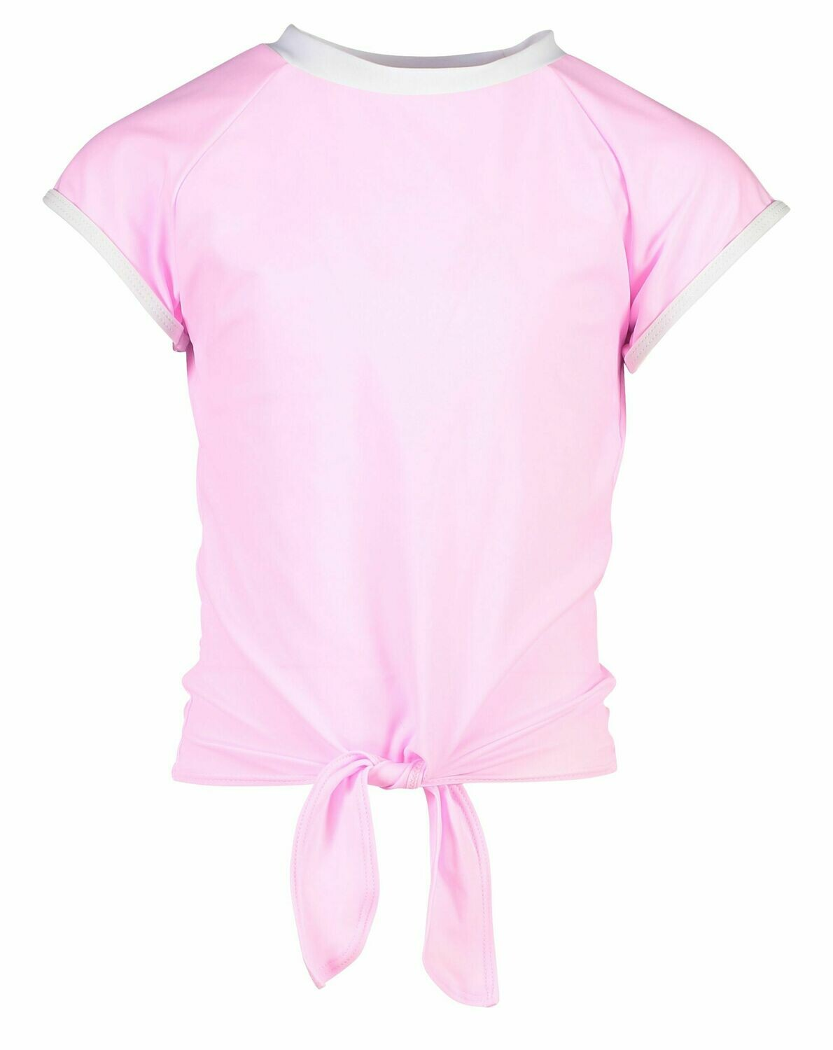 Snapper Rock Pink Knot Front Rash Top
